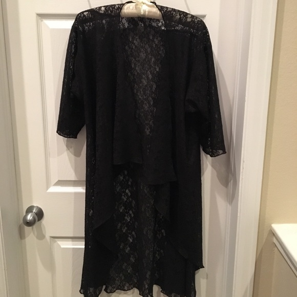 LuLaRoe Other - Lularoe Black Lace Medium Shirley Kimono